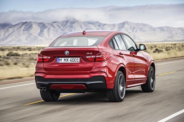 Красная BMW сзади