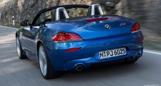 BMW родстер сзади