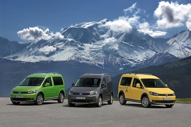 Разноцветные Volkwagen caddy