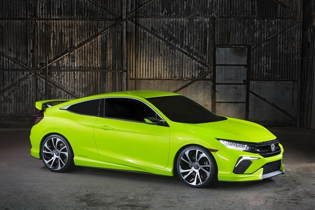 Honda Civic 2016 вид спереди